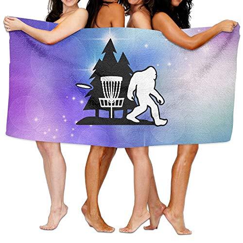 fM.Webster Bigfoot Disc Golf Tree Moisture Absorption Bath Towels Beach Towels Adult & Teen Unisex Women Men