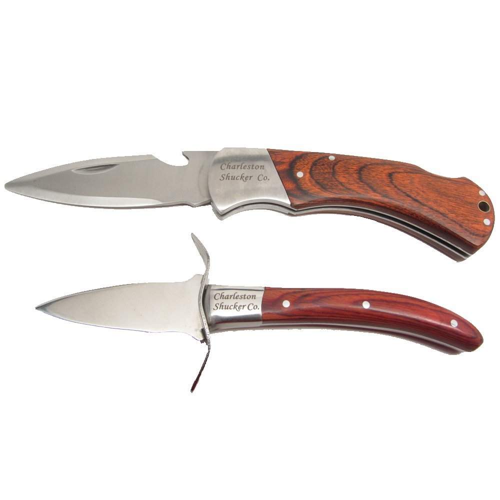 Charleston Shucker Company Stowaway & Palmetto Knife w/ Built-In Bottle Opener Knives Variety Pack