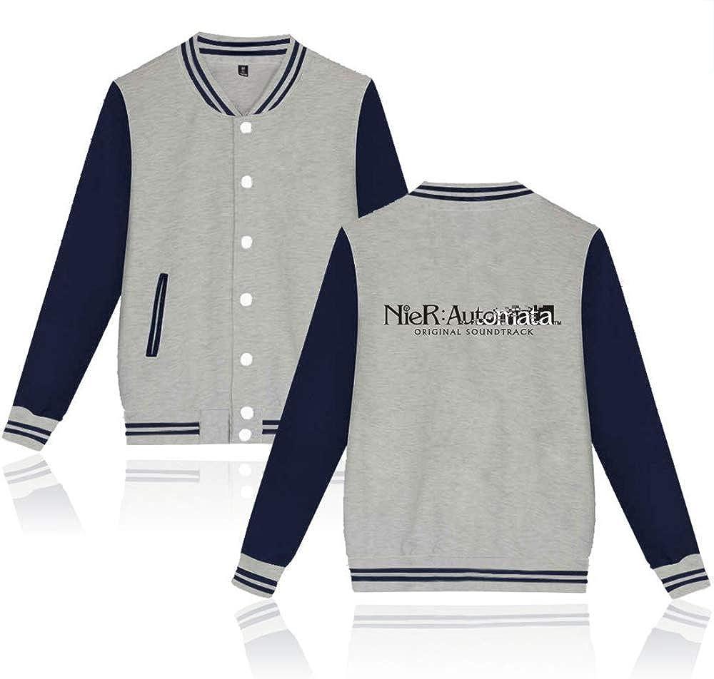 NieR:Automata Pullover Avant-Garde Windproof Mens Long Sleeve Sweatshirt Advanced Tech Uniform Zipper Jacket Sweatshirt