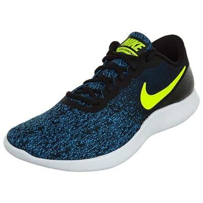 Nike Men's Flex Contact Running Shoe (7 M US, Black/Volt-Photo Blue-White)