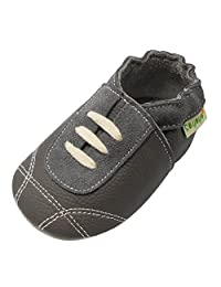 Sayoyo Baby Sneakers Leather Baby Shoes Crib Shoes Toddler Soft Sole Sneakers