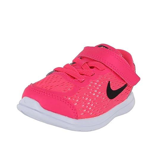 NIKE - Free RN Sense Niños, Rosado (Racer Pink/Black/Pure Platinum/Lava Glow), Niñito M: Amazon.es: Zapatos y complementos
