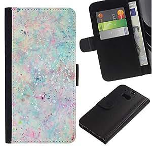 iBinBang / Flip Funda de Cuero Case Cover - Paint Splash Pastel Colors Paint - HTC One M8