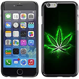 Graphic4You Marijuana Cannabis Weed Hemp Leaf Smoker Design Hard Case Cover for Apple iPhone 6 Plus