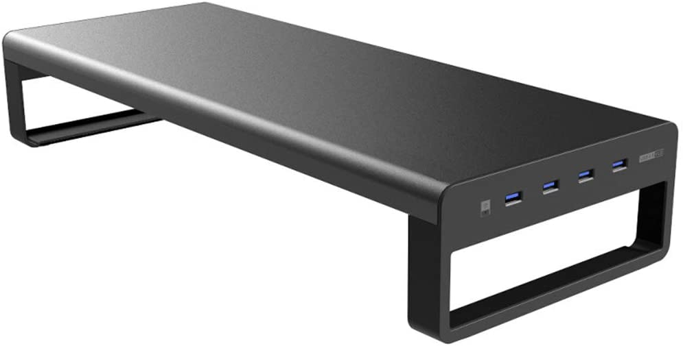 SirMo Smart Base Aluminum Alloy Computer Laptop Base Stand with USB 3.0 Port