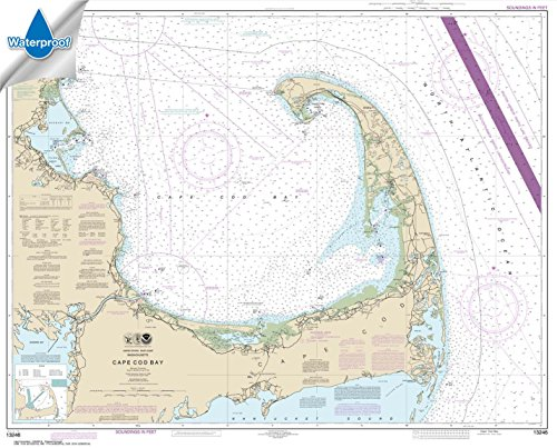 Paradise Cay Publications NOAA Chart 13246: Cape Cod Bay, 34.2 X 42.4, WATERPROOF - Noaa Marine Charts