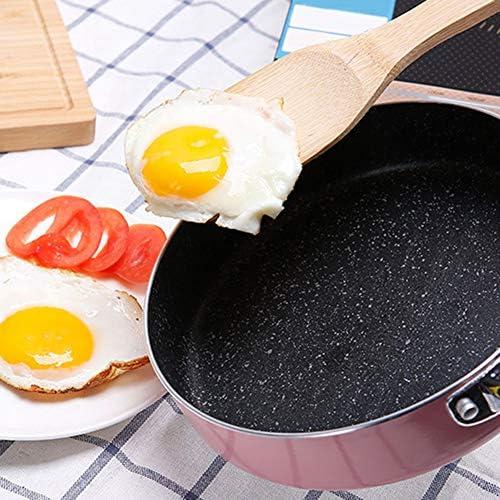 Pan Met Deksel, 10 Inch Nonstick Deep Steelpan, Inductie Skillet Met Stay-Cool Handle, 2Layers Detergentvrije Stir Fry Pan, Pink Cookware