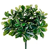 16.5'' UV-Resistant Outdoor Artificial Baby Schefflera Plant -Green (pack of 12)