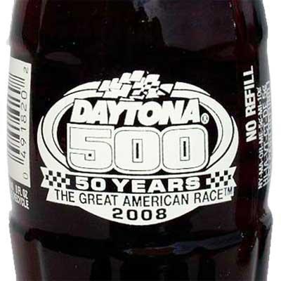 Daytona 500 50 Years NASCAR Coca-Cola Bottle 2008