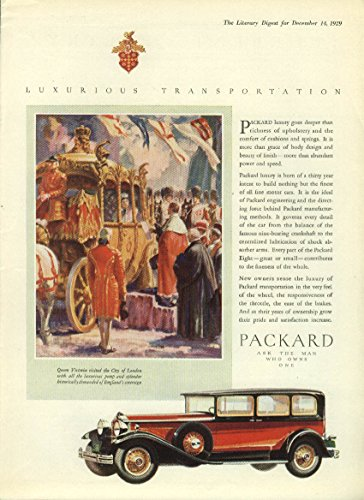 (Luxury goes deeper than richness of upholstery Packard Sedan ad 1930 LD)
