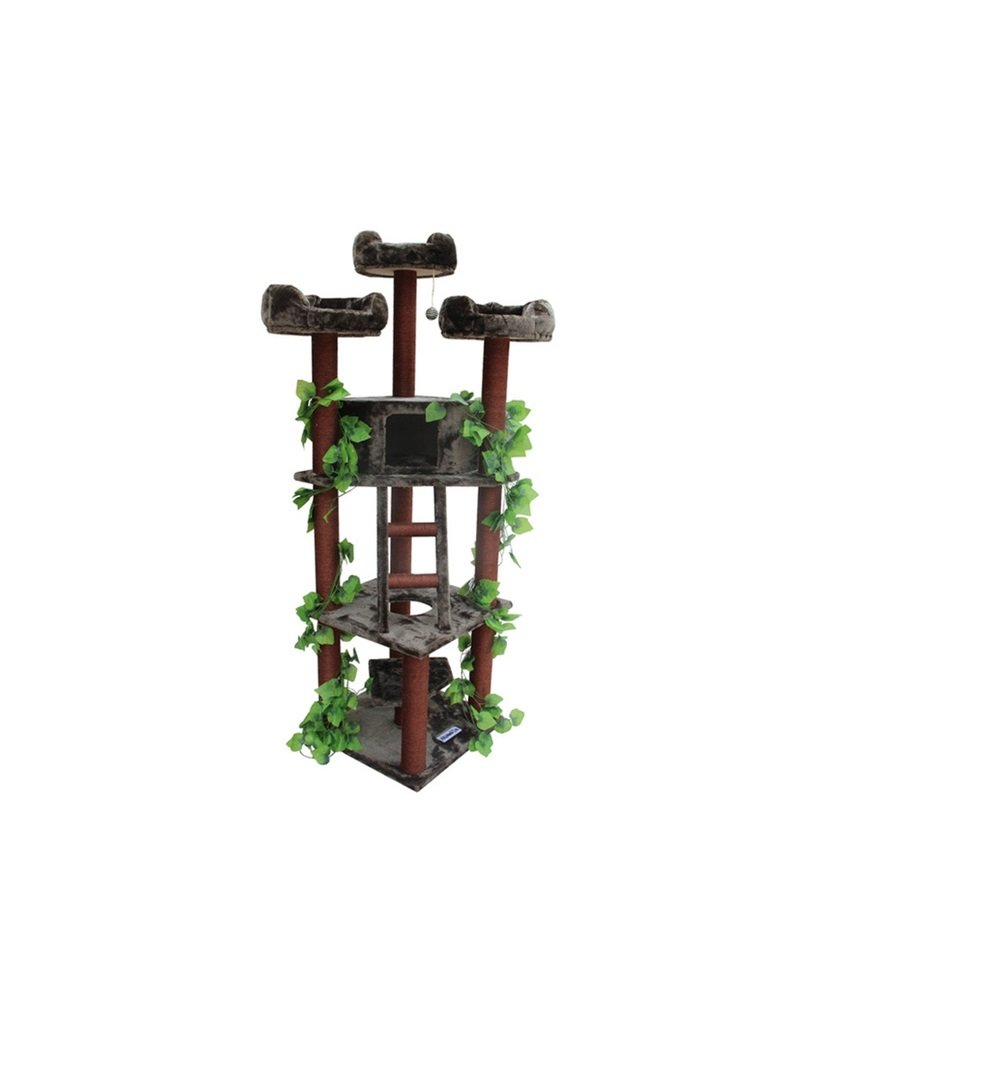 Redwood Cat Tree Furniture Large Cat Tree Scratcher by Kitty Mansions