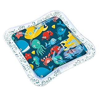 Liukouu Tummy Time, Eco-Friendly Thick PVC Inflatable Water Mat Water Play mat, for Sensory Stimulation Baby