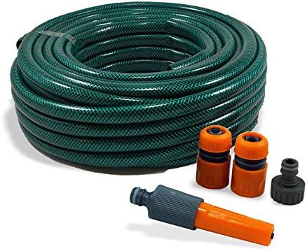 Set de manguera, manguera de jardín, agua, manguera, acoples para conector de agua: Amazon.es: Jardín