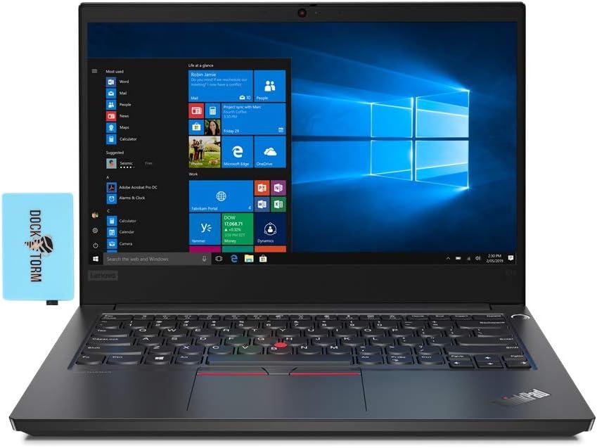 Lenovo ThinkPad E14 Home and Business Laptop (Intel i7-10510U 4-Core, 32GB RAM, 1TB PCIe SSD, Intel UHD, 14.0