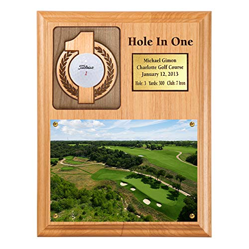 - Eureka Golf Products Hole-in-One Ball and Scorecard or Photo Plaque with Free Engraved Plate