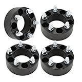 """(4) 50mm (2"""") 5x4.5 to 5x4.5 Black Wheel Spacers for Ford Mustang Edge Ranger Explorer"""
