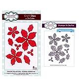Sue Wilson Craft Die and Matching Rubber Stamp Set - Elegant Poinsettias