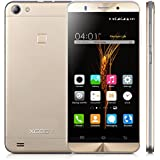 Xgody X15s 5.0 Inch 3G Unlocked Cell Phone 8GB+1GB Quad Core Android 5.1 qHD Screen Dual SIM with Wi-Fi Bluetooth for T-Mobile Telefonos Desbloqueados Gold