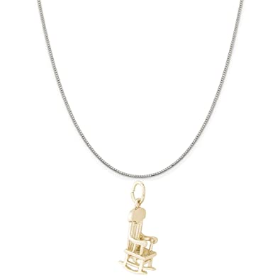 Box or Curb Chain Necklace 18 or 20 inch Rope Rembrandt Charms Two-Tone Sterling Silver Black Bear Charm on a Sterling Silver 16