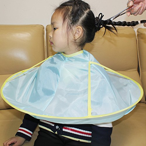 Namivad Child Hairdressing Kids Hair Cutting Apron Children Haircut Umbrella Bib Hairdresser Waterproof Salon Barber Cape (C)