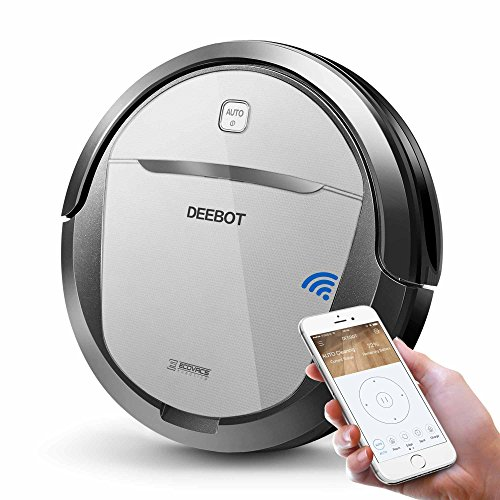 ECOVACS Deebot M80 Pro Robot Vacuum Cleaner with Mop and Water Tank Attachment, Brush Roll Attachment, Sensor Navigation for Pet Hair, Fur, Dirt, Stains, Thin Carpet, Hardwood and Tile Floor by ECOVACS