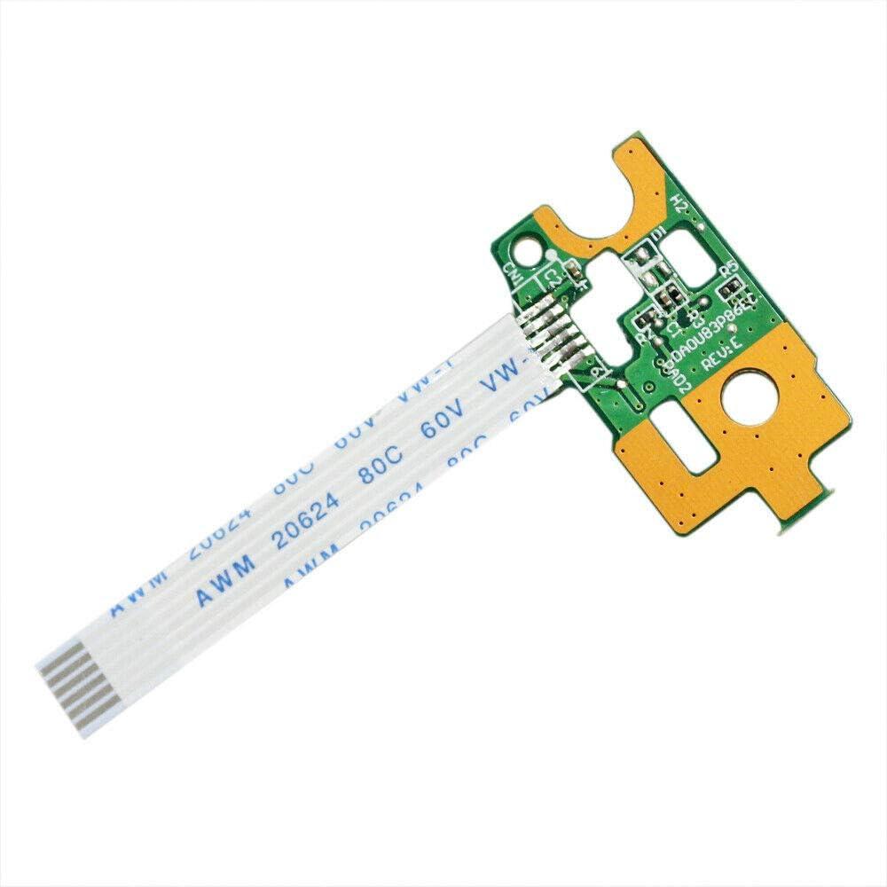 Replacement Power Button Board Cable for HP Pavilion 14-N 15-N 15-F Series, 15-n213nr 15-n207cl 15-n207nr 15-n208nr 15-f233wm 15-f240ca 15-f269nr 15-f271wm Series Laptop P/N: DA0U83PB6E0 732076-001