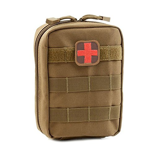 Aremain Tactical MOLLE EMT Bag Utility First Aid Kit Storage Emergency Earth