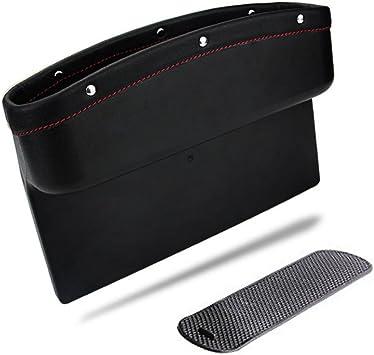 Bandeja de pl/ástico negro organizadora de m/óviles para el reposabrazos del coche con alfombrilla antideslizante.