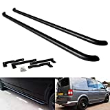 Black Side Step Rail Guard Bar Running Board Sportline For 2003-up Volks Transporter T5 T6 Caravelle Multivan SWB