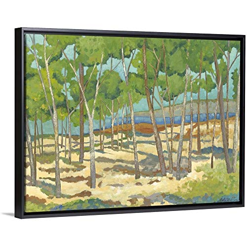 Frame California Mini (Chariklia Zarris Floating Frame Premium Canvas with Black Frame Wall Art Print Entitled Mini Western Vista I 16