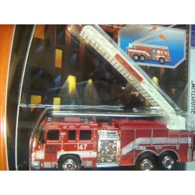 Matchbox Highly Detailed Diecast Truck The Real Working Rigs Pierce Quantum Fire Engine Arial Ladder Scale 1/64 -