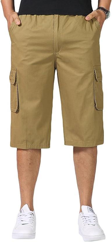 Sk Studio Pantalones Cortos Trabajo Bermudas Cargo Shorts Deporte Tallas Grandes Patalon Vestir Corto Con Bolsillos Verano Para Hombre Amazon Es Ropa Y Accesorios