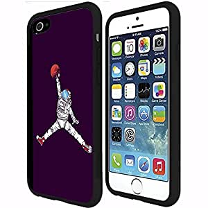 Cool Astronaut Jump Man on Purple Background Rubber Snap on Phone Case (iphone 4s)