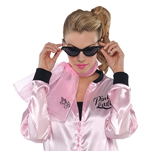 Greaser Costumes For Girls (Pink 50's Scarf 11.5