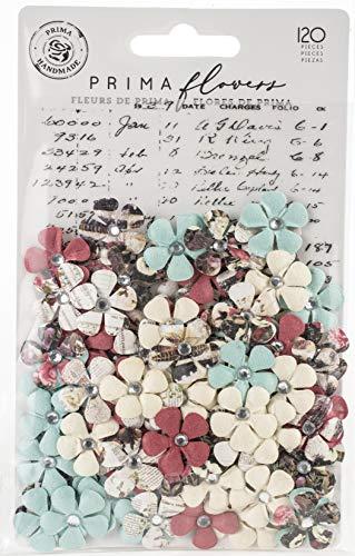 (Prima Marketing 637835 Midnight Garden Mulberry Paper Flowers 120/P-Twilight, Twilight)