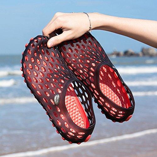 Misaya Summer Athletic Shower Garden Sandals Red Barefoot Shoes Quick Beach Dry Water Unisex Clogs RqwRZrU