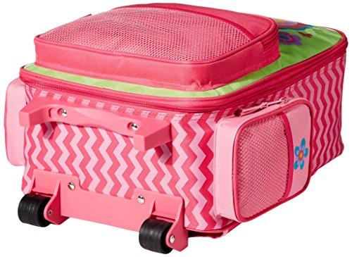 Stephen Joseph Girls' Little Classic Rolling Luggage, Flower- Chevron, 14.5x8.5x18