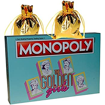usaopoly the golden girls monopoly board game toys games. Black Bedroom Furniture Sets. Home Design Ideas