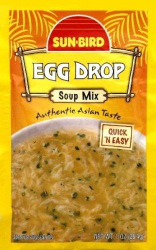 Sun-Bird Soup Mix - Egg Drop - 24 Packets (1 oz ea) by Sun Bird (Best Egg Drop Soup)