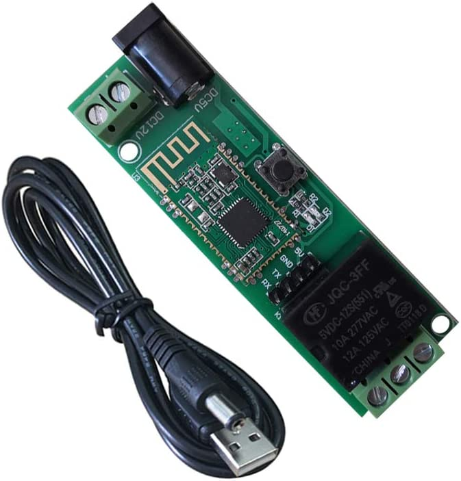 DSD TECH Módulo de relé Bluetooth de 12 V para Interruptor de Control Remoto Compatible con iPhone y Android 4.3