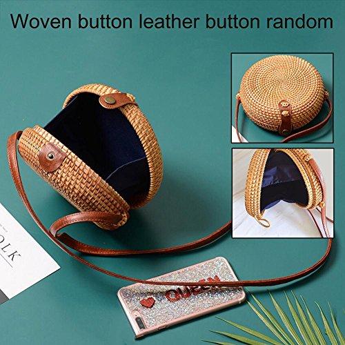 de crossbody playa tejido mano bolso de para de citas estilo retro Bolso Bolso el tejido hecho redondo adecuado viajes de a playa 100 moda OqWw6Sp