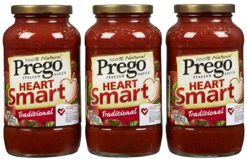 Prego Heart Smart, Traditional Sauce, 23 oz, 3 pk (Prego Heart)
