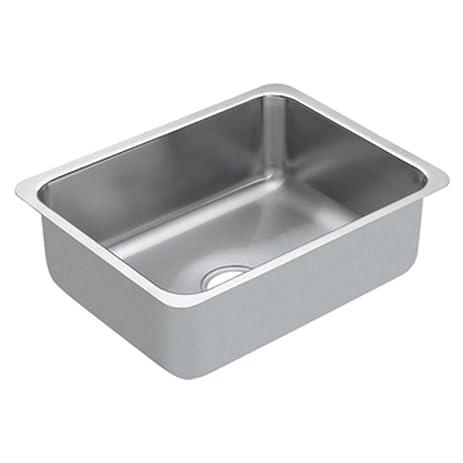 Moen G18191 1800 Series 18 Gauge Single Bowl Undermount Sink, Stainless  Steel