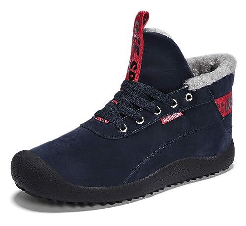18bd6bd7932a2 Homme Chaussures d hiver Outdoor Baskets Hautes Sneakers Confort Bottes  Chaud Fourrées Bottes de Neige