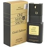 One Man Show Gold by Jacques Bogart Men's Eau De Toilette Spray 3.3 oz - 100% Authentic
