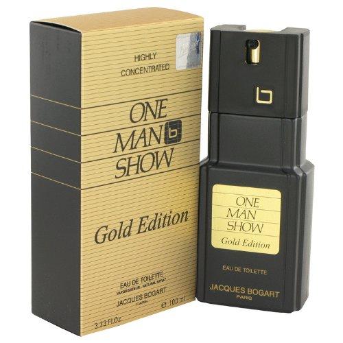 One Man Show Gold by Jâcqúés Bógârt for Men Eau De Toilette Spray 3.3 oz