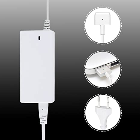 kinlo® 45 W 60 W 85 W cargador para Apple MacBook Air/Pro con conexión Magsafe 2 Red Charger, forma de T