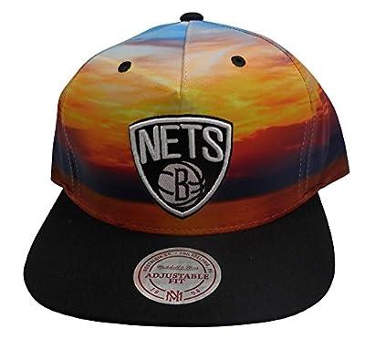Mitchell & Ness NBA Brooklyn Nets Sunset Adjustable Snapback Hat