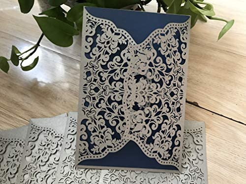 Silver Laser Cut Wedding Invitation Cards Laser Cut Weddings