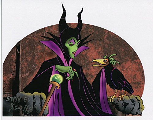 Sleeping Beauty Maleficent Evil Witch Signed Tribute Print With COA from PJ's Collectibles